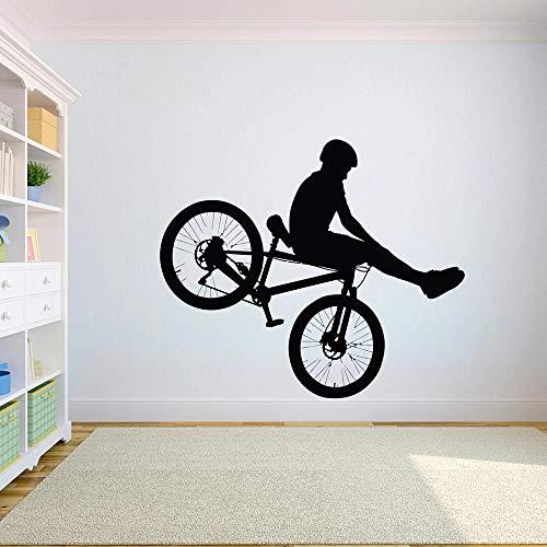 WERWN Bicicleta Vinilo Coche Cruz Estilo Libre Bicicleta Pared Pegatina Suciedad Motocicleta niño Adolescente decoración de la habitación