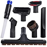 KEEPOW Universal Vacuum Attachments Accessories Cleaning Kit Hardwood Floor Dust Brush for 32mm (1 1/4 inch) Standard Hose, 7Pcs