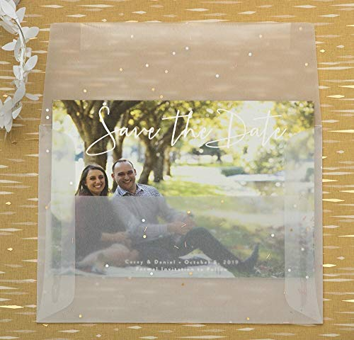 "JAM Paper A7 Invitation Envelope - 5 1/4"" x 7 1/4"" - Clear Translucent Vellum - 25/pack Photo #3"