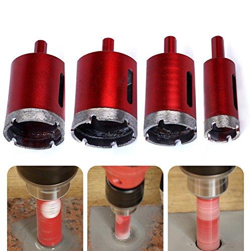 Hakkin - Juego de 4 brocas para sierra de corona, 25 mm, 40 mm, 45 mm, 50 mm, con...