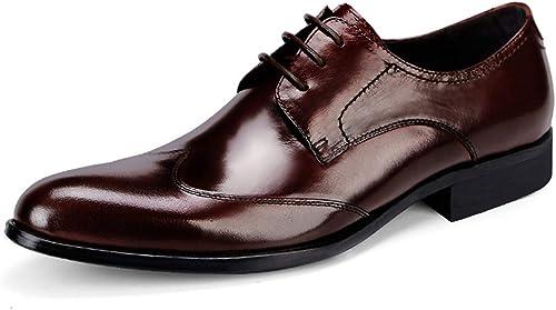 BNMZX Chaussures habillées pour Hommes Hommes en Angleterre, Chaussures de Travail pour Hommes, Chaussures de Bureau avec Chaussures à Bout Brillant  40% de réduction
