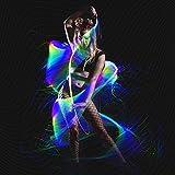 GloFX Space Whip Remix [PROGRAMMABLE LED Fiber Optic Whip] 6 Ft 360° Swivel - Super Bright Light Up Rave Toy | EDM Pixel Flow Lace Dance Festival