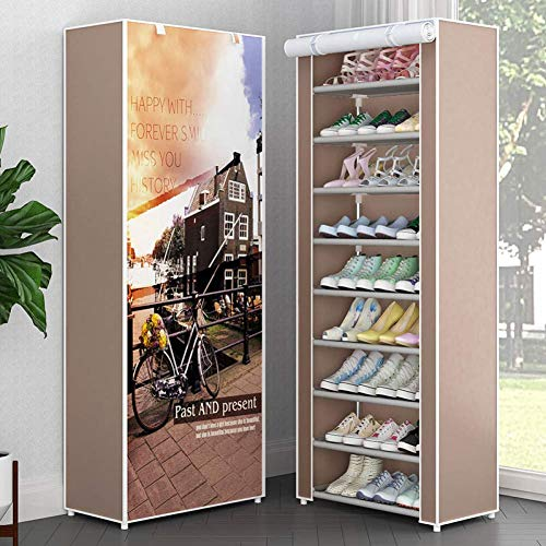 Schoenenrek schoenenrek Combiboiler Enkellaarsje Closet eenvoudige montage schoenenrek Fixing Rack Space Saving Shoe Storage Box, Velcro 5 dljyy (Color : Velcro 2)