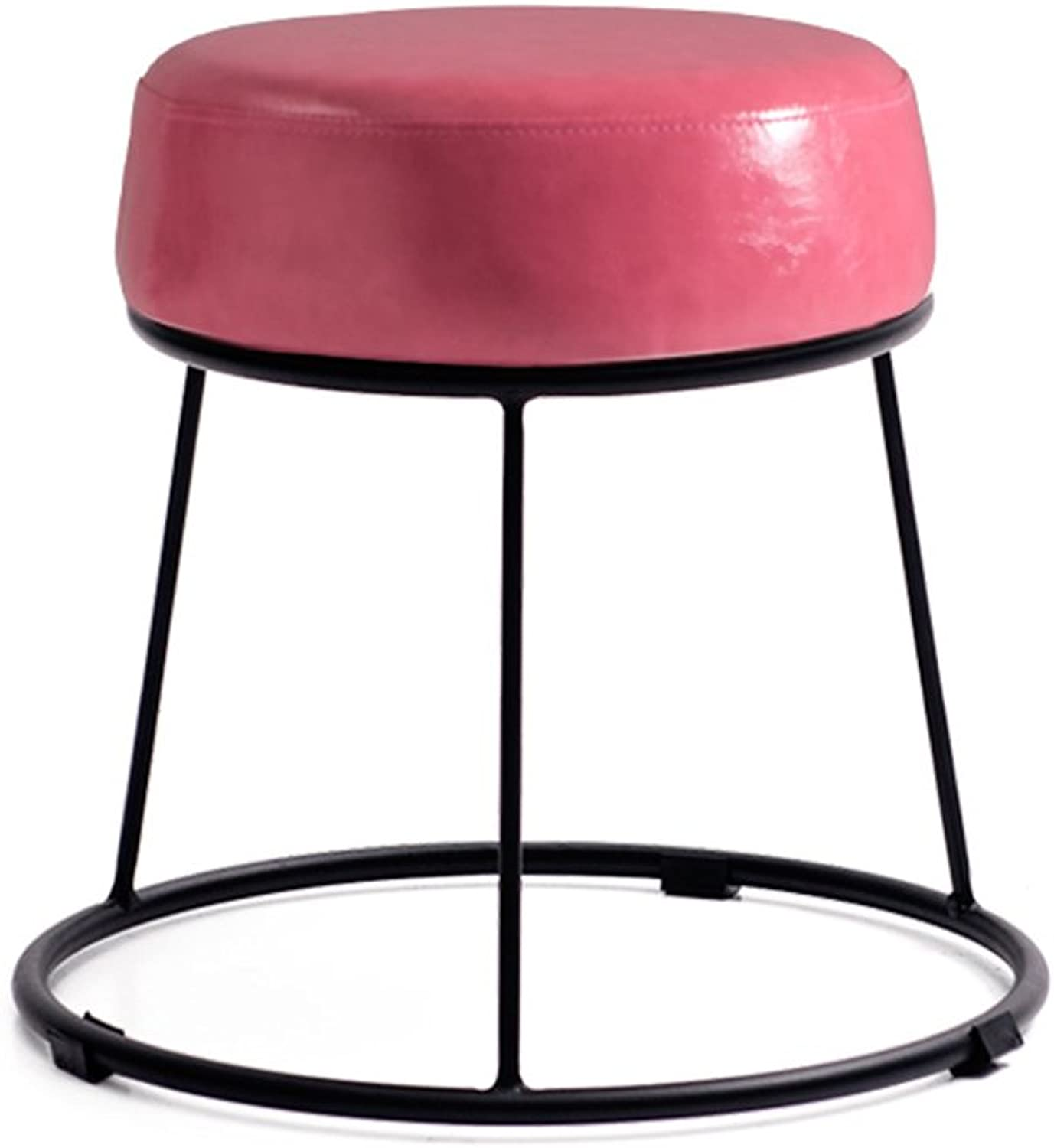 Bar Stool Living Room Stool Table Stool Iron Stool Black Stool Soft Stool Foot Stool Bed Stool Stool   Lazy Stool Fashion Bench Creative shoes Stool   38.5  36.5cm (color   B)