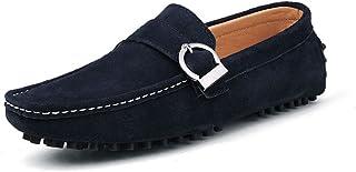 [QIFENGDIANZI] 靴 メンズ ドライビングシューズ カジュアルシューズ ローファー スリッポン モカシン デッキシューズ ビジネスシューズ お洒落 身長アップ 軽量 通気性 アウトドア ローカット 通勤 通学 白 ブルー 黒