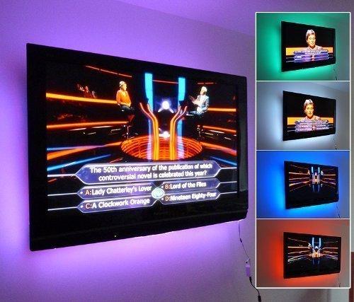 Kleurverandering RGB LED keuken/in verlichtingsbereik SET (incl. 6 x 50 cm heeft de strepen, draadloze controller & SUPPLY) ** LED Light PACCHETTO - Ideaal voor transformar