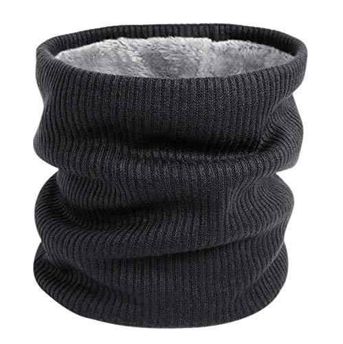 Tacobear Halswarmer loop sjaal fleece voering gebreide sjaal slangsjaal halsdoek outdoor motorfiets breien warme winter sjaal voor dames heren
