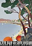 Spiffing Prints L'ete Sur La Cote D'Azur French Riviera -