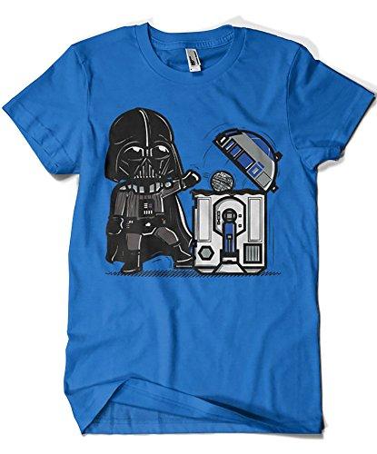 Camisetas La Colmena 209 - Robotictrashcan (Donnie) (XXXL, Azul Royal)