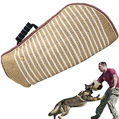 BOW CALICO Hundebiss Ärmel Schlepper, Hunde Schutzhülle Armschutz, Hund beißt Sleeve, Dauerhafte Jute Ausbildung Pit Bull Deutscher Schäferhund Mastiff Supplies