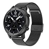HQPCAHL Reloj Inteligente Hombre, Hommie Smartwatch Hombre de Pantalla Táctil Ccompleta Impermeable IP68, Pulsera de Actividad Inteligente con 8 Deportes, Pulsómetro, Smartwatch iOS y Android,B