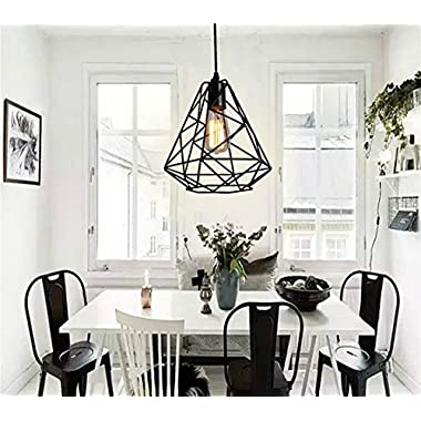 SUSUO Lighting Vintage Style Industrial Hanging Light Iron Art Cage Pendant Chandeliers Rustic Decor