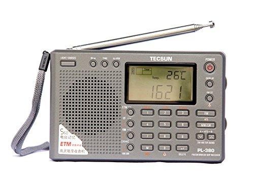Tecsun PL-380 Radio Digital PLL Portable Radio FM Stereo/LW/SW/MW DSP Receiver (380-Gray)