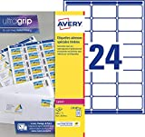 AVERY - Pochette de 240 étiquettes autocollantes ''Montimbrenligne'', Personnalisables et imprimables, Format 63,5 x 33,9 mm, Impression laser, (L7159-10)