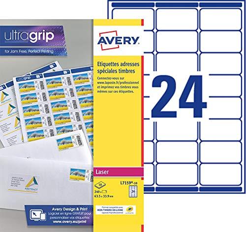 AVERY - Pochette de 240 étiquettes autocollantes...