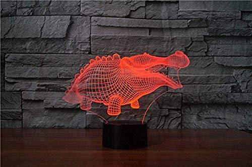 3D magische Laterne Krokodil Tier 7-Farben Led Stimmung Tisch Schreibtischlampe Schlafzimmer Nachtschlaf Nachtbeleuchtung Home Dekoration Geschenk
