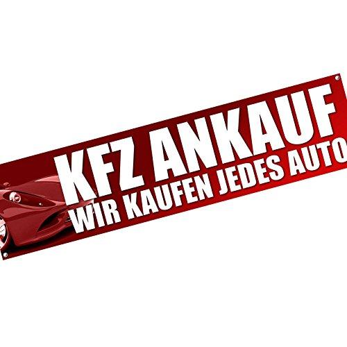 PKW KFZ Ankauf wir Zahlen bar Spannbanner Banner Werbebanner 2 x 0,5 Meter Plakat