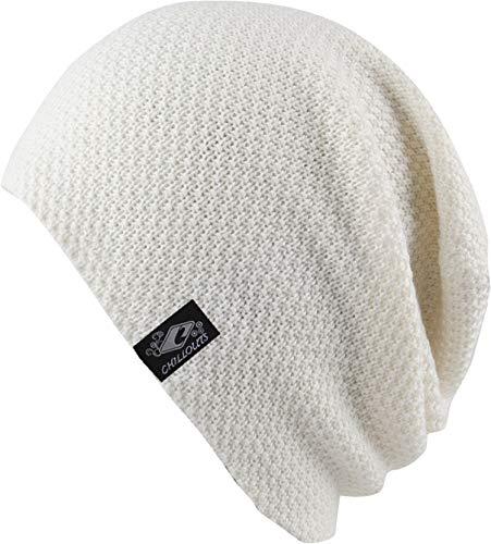CHILLOUTS Osaka Beanie hochwertige Hüte Mützen und Caps für Herren Damen und Kinder - Kopfbedeckung in 4 Farben, Farbe:White (OSA 04)