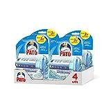 PATO Discos Activos WC, Limpia y Desinfecta, Marine, Packs de 4 Unidades, 1 Aplicador + 1 Recambio