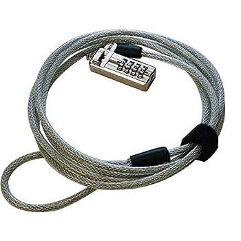 3OZ 6 Feet Pivot Lock Head T-Bar Cable Lock for HP Laptops Lenovo Acer & TV/Monitor Projector Printer