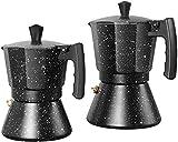 Máquina de café exprés de estufa MXCHEN, cafetera de aluminio de grado alimenticio, cafetera Moka, filtro para máquina de café, café molido, olla Moka