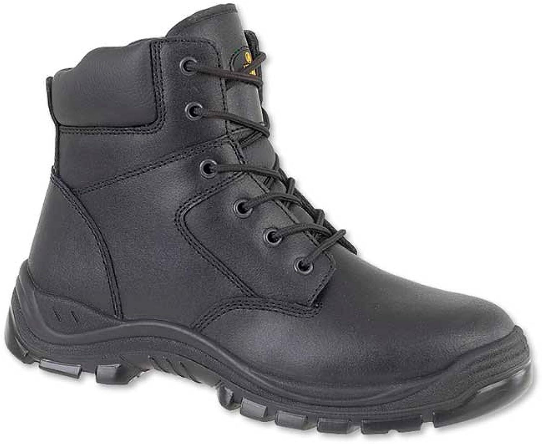 Alexandra STC-FW510BK-13 Security Boot, Plain, Dual-Density Polyurethane, Size  13, Black