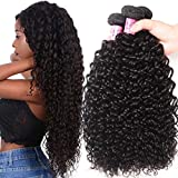 Unice Hair Malaysian Curly hair 3 Bundles 100% Unprocessed Human Remy Hair Weft Extensions Natural Color (8 10 12inch)