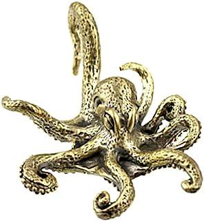CHICNET - Piercing a spirale per piercing a forma di ottopo, a forma di lumaca, in ottone anticato, a partire da 4 mm, 6 g...