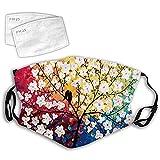 Blingko Mundschutz 3D Muster Waschbar Leichtes Atmungsaktiv Face Cover Multifunktionstuch Sommerschal Augenschutz Halstuch für Damen und Herre (W)