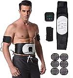 Electroestimulador Muscular Abdominales,Estimulador Mmuscular con USB,6 Modos,18 Niveles Diferentes Electroestimulador Muscular Recargable