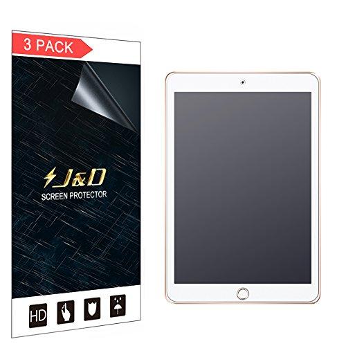 J&D Compatible para 3 Paquetes Protector de Pantalla para iPad 9.7 inch 2018, [Anti reflejante] [NO Cobertura Completa] Prima Película Mate Protector de Pantalla para iPad 9.7 inch 2018