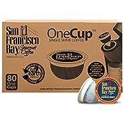 San Francisco Bay OneCup, Espresso Roast, 80 Count- Single Serve Coffee, Compatible with Keurig K-cup Brewers