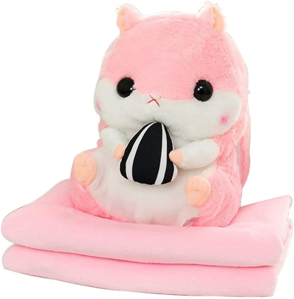 3 Free Shipping Cheap Bargain Gift in 1 Plush sold out Hamster Throw Cute Air Conditioning Pillow Folding