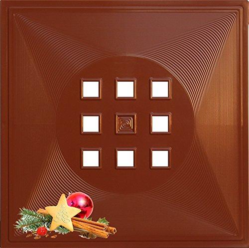 DEKAFORM Regaltür Geschenkidee als Fach Deko Einsatz für Weihnachten, Advent IKEA Expedit Kallax Regal mit Tür + Raumteiler * Zimt