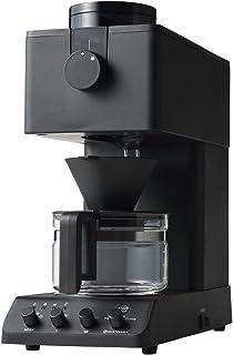 ツインバード 全自動コーヒーメーカー ミル付き コーン式 3杯用 蒸らし 湯温調節 ブラック CM-D457B