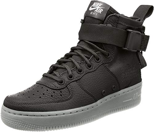 Zapatillas Nike SF AF1 Mid de piel con cordones para mujer, Verde (Verde al aire libre/Verde al aire libre.), 35.5 EU