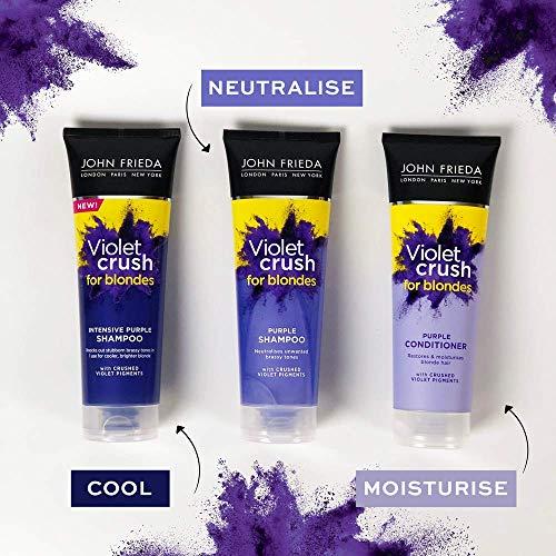 John Frieda Violet Crush Intensive Purple Shampoo for Brassy, Blonde Hair 250ml