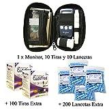 SD Codefree - Estuche que contiene Monitor de Glucosa, 10 Tiras y 10 Lancetas - Más...