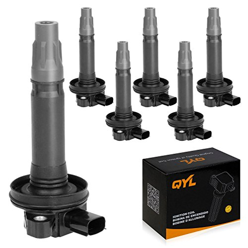 QYL 6Pcs Ignition Coil Pack Replacement for Edge Flex Fusion Mustang Taurus /...