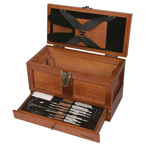 Outers 70084 25 - Piece Universal Wood Gun Cleaning Tool Chest (.22 Caliber and up), Multi, One Size
