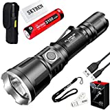 Klarus XT11X 3200 Lumens CREE XHP70.2 P2 LED 18650 Extreme Illumination Rechargeable Tactical Powerful Flashlight,with 1 x 18650 Battery,SKYBEN Battery Case and USB Light(XT11GT Upgraded Version)