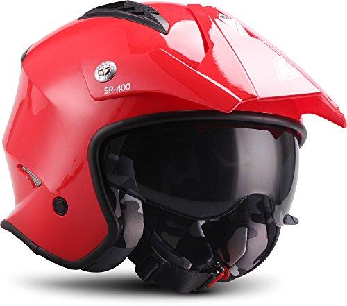 Soxon, Casco de Moto, Rojo, tamaño XL (61–62cm)