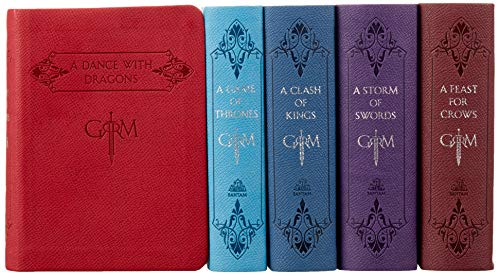 George R. R. Martin's A Game of Thrones Leather-Cloth Boxed Set (Song of Ice and Fire Series): A Game of Thrones, A Clash of Kings, A Storm of Swords, A Feast for Crows, and A Dance with Dragons: 1-5