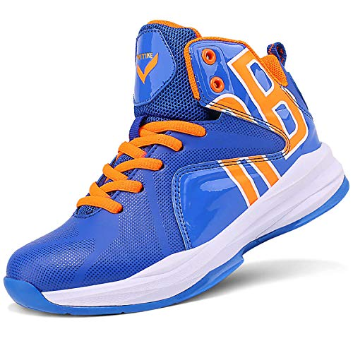 Zapatos de Baloncesto Hombre Alto para Ayudar a los Zapatos Deportivos Zapatillas para Niños(Azul 2,38EU)