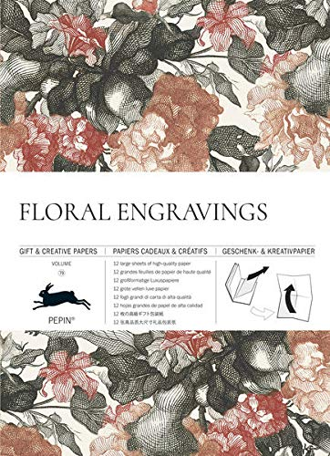Floral Engravings: Gift & Creative Paper Book Vol.79 (Multilingual Edition) (English, Spanish, French, Italian and German Edition)