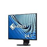 EIZO EV2457-BK 61,2 cm (24,1 Zoll) Ultra-Slim Monitor (DVI-D, HDMI, USB 3.1, DisplayPort, DaisyChain, 5ms Reaktionszeit, Auflösung 1920 x 1200) schwarz