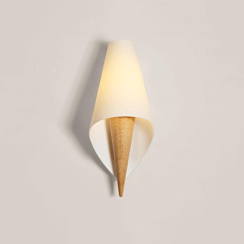 Nordic massivholz wandleuchte led wandleuchte glas wandleuchte schlafzimmer nachttischlampe beleuchtung restaurant wohnzimmer wanddekoration lampe (Design   A)