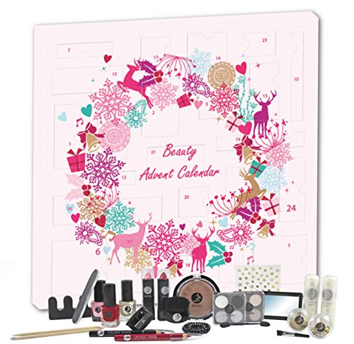 Adventskalender Kosmetik MakeUp Advent Calendar Beauty Damen Women Teens Mädchen Weihnachtskalender Elch Rosa