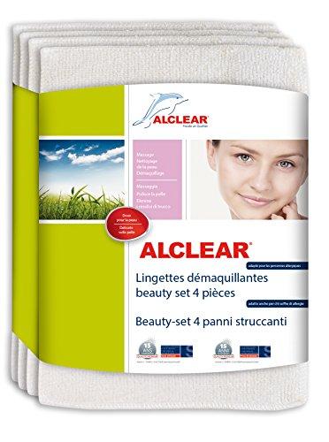 ALCLEAR 200803 Lingettes Démaquillantes, Blanc, 18x14 cm, Set de 4