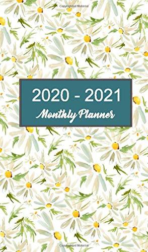 2020 - 2021 Monthly Planner: Meadow Daisy Pocket Calendar
